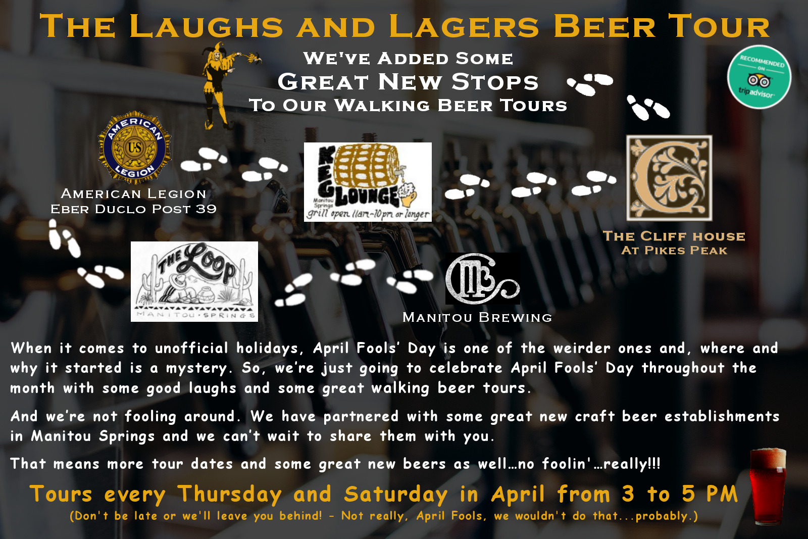 The Laughs and Lagers Beer Tour