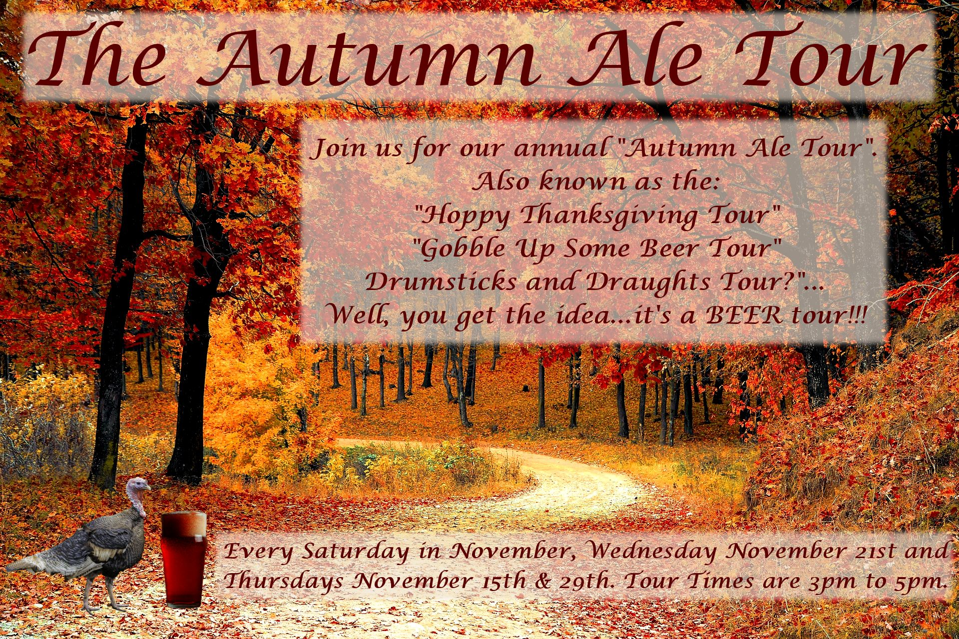 The Autumn Ale Tour - Walking Beer Tour
