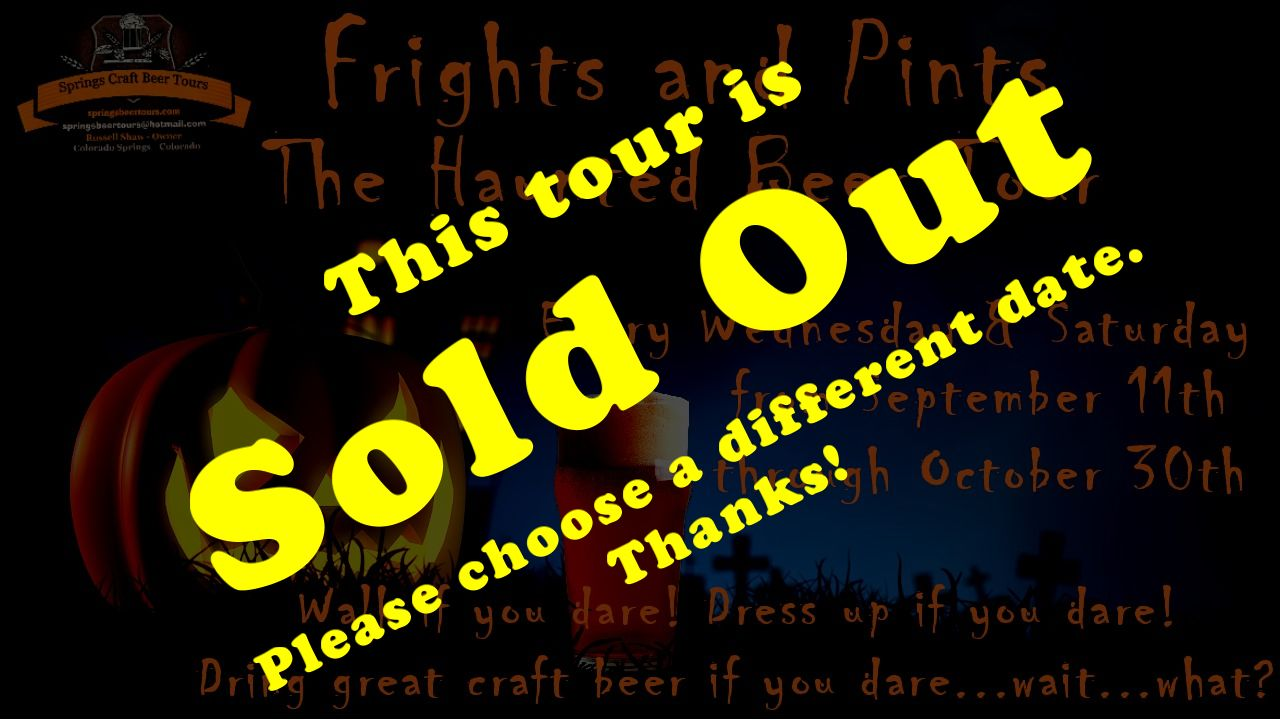Frights and Pints - The Haunted Beer Tour - SOLD OUT