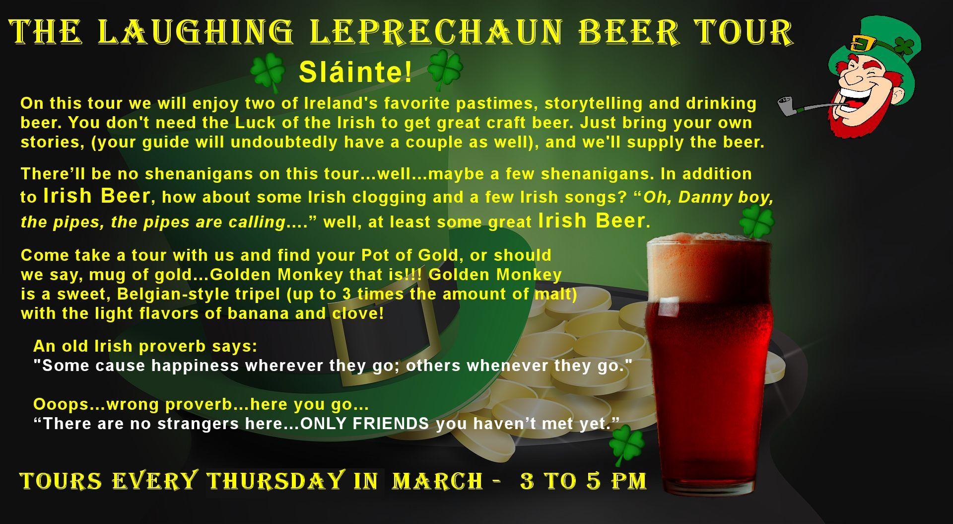 The Laughing Leprechaun Beer Tour