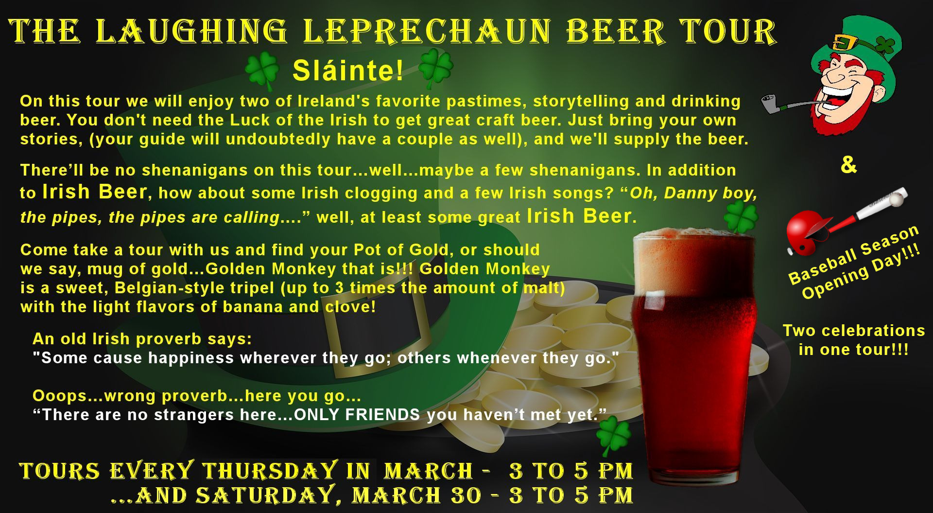 St. Paddys Day & Baseball - Beer Tour